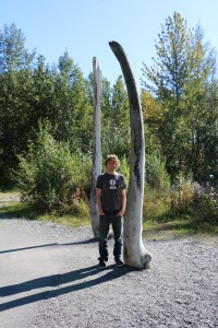 Ed with some whale bones