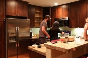 Jado and Jane preparing dinner