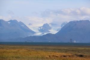 Glacier in the distance