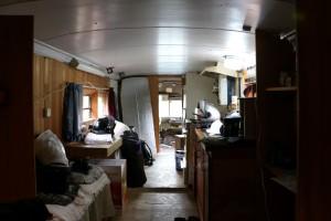 Inside the school bus