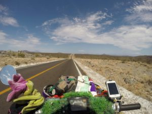 Endless roads in the Baja